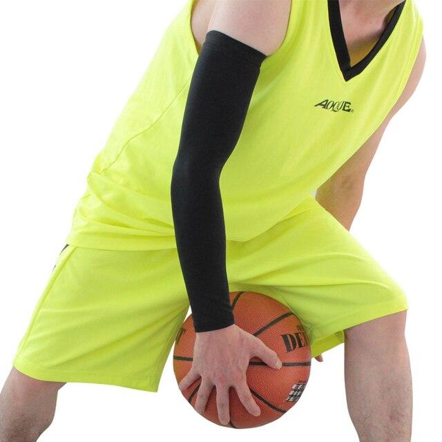 Compressão esportes braço manga basquete ciclismo braço mais quente verão correndo tênis proteção uv voleibol bandas 5