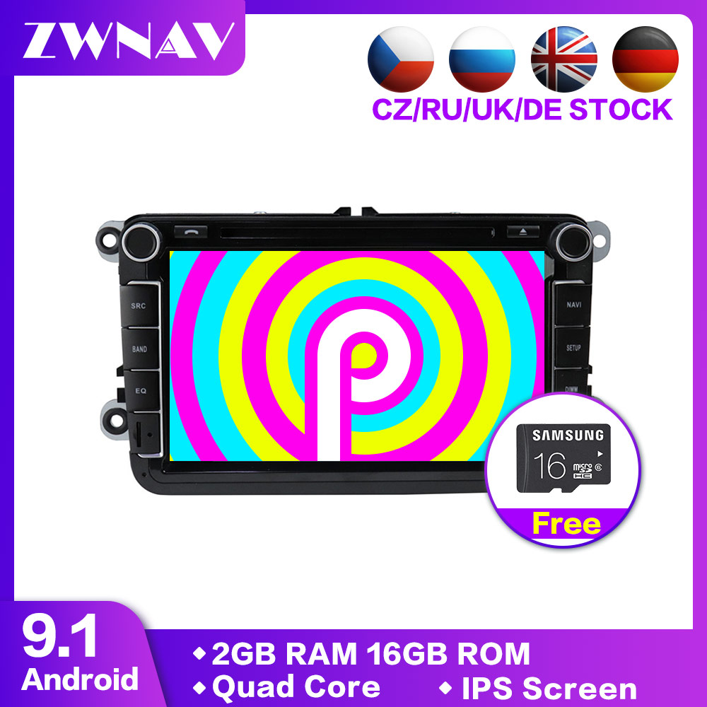 Android 9.1 Car Multimedia player 2Din Car DVD For VW/Volkswagen/Golf/Polo/Tiguan/Passat/b7/b6/SEAT/leon/Skoda/Octavia Radio GPS-in Car Multimedia Player from Automobiles & Motorcycles    1
