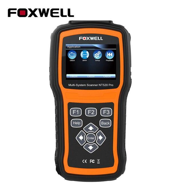 Foxwell NT520 PRO Full System OBD2 Scanner ABS SRS SAS BMS DPF EPB Oil Reset Injector Coding Auto OBD ODB 2 Car Diagnostics Tool