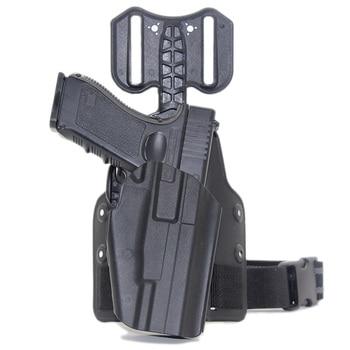 Tactical Drop Leg Gun Holster for BERETTA M92 Glock 17 19 CZ75 TAURUS PT840 HK USP SIG SAUER 226 Holster Pistol Airsoft Platform 2