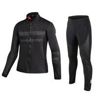 Santic Winter Fleece Thermal Cycling Sets Bike Jacket Cycling pants Sportswear Windproof Reflective Bicycle Clothing MTB S 3XL