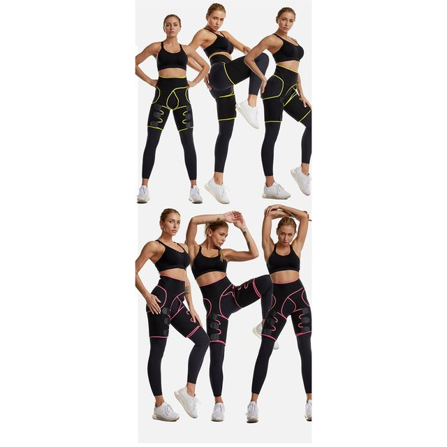Three-in-one Yoga shorts hip belt explosion sweat belt sports bodybuilding adjustable durable waist belt leg belt Yoga shorts 5