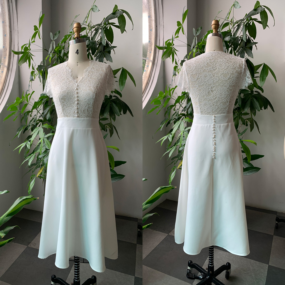 Elegant White Sexy Party Lace Dress Women Summer A Line Hook Floral Designer See Through Vintage Evening Formal Dresses 2020