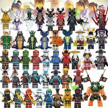 53 шт. ниндзя Кай Джей Коул Зейн Ллойд ня фигурки строительные блоки детские игрушки подарок lEGOED Ninjagoed мотоцикл для детей