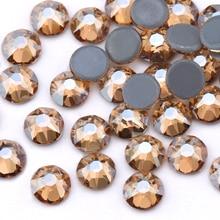 ЦЯО золотые тени покрытие красочные SS16 SS20 новые огранки 8 Большие 8 маленькие железные на камне горячей фиксации Стразы для одежды украшения