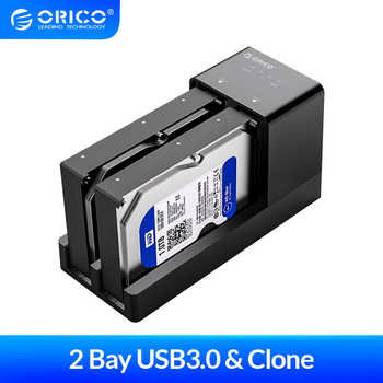ORICO 2 Bay 2.5 3.5 inch USB 3.0 HDD Enclosure Offline Clone HDD Docking Station Hard Drive Support 10TB HDD Case - DISCOUNT ITEM  38 OFF Computer & Office