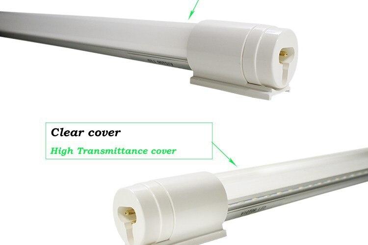 Светильник T8 с поворотом на 360 градусов, вращающийся штекер, специальная лампа, прозрачная молочно-белая лампа
