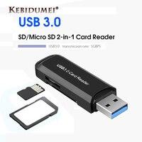 Kebidumei-lector de tarjeta de memoria inteligente, adaptador USB 3,0 tipo OTG C, Mini lector de tarjetas para Micro SD/TF/CF/MS para ordenador y portátil
