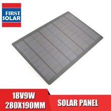18V9W ソーラーパネル多結晶シリコン標準エポキシ DIY バッテリー電源充電モジュール太陽電池ミニ