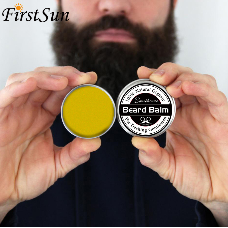Natural Beard Balm Men Beard Oil Hair Growth Wax Product Professional Conditioner Organic Ingredients Mustache Moisturizing 30g image