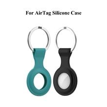 Için AirTag silikon kılıf koruyucu kapak Aircovered AirTag kılıfı silikon koruyucu tampon olgu AirTags izci toka