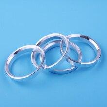 DWCX 4pcs Universal Silver Wheel Spacer Hub Centric Spigot Rings OD64.1mm-ID56.1mm Aluminum Alloy centric parts 150 47045