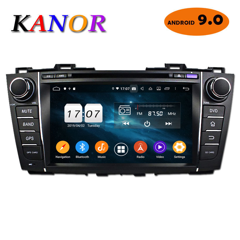 KANOR Android 9.0 Car DVD Player For <font><b>Mazda</b></font> <font><b>5</b></font> Premacy 2010-2012 <font><b>2din</b></font> Car GPS Navigation Autoradio Bluetooth Octa Core 4+32G image