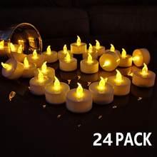 Vela flameless branca morna sem chama bluk da coluna das velas do tealight do diodo emissor de luz flameless a pilhas para decorações românticas