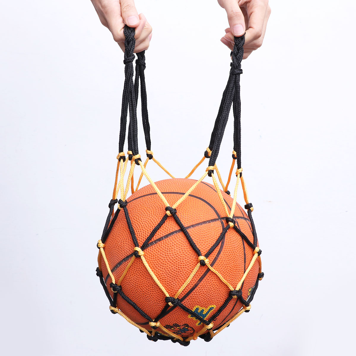 Сверхпрочная баскетбольная сумка, сетчатая нейлоновая сумка для баскетбола на шнурке, Сетчатая Сумка для переноски футбола, сумка для хранения на шнурке для баскетбола-0