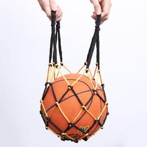 Heavy Duty Basketball Bag Drawstring Ball Mesh Net Nylon Soccer Carrier Mesh Net Bag Drawstring Storage Bag for Basketball(China)