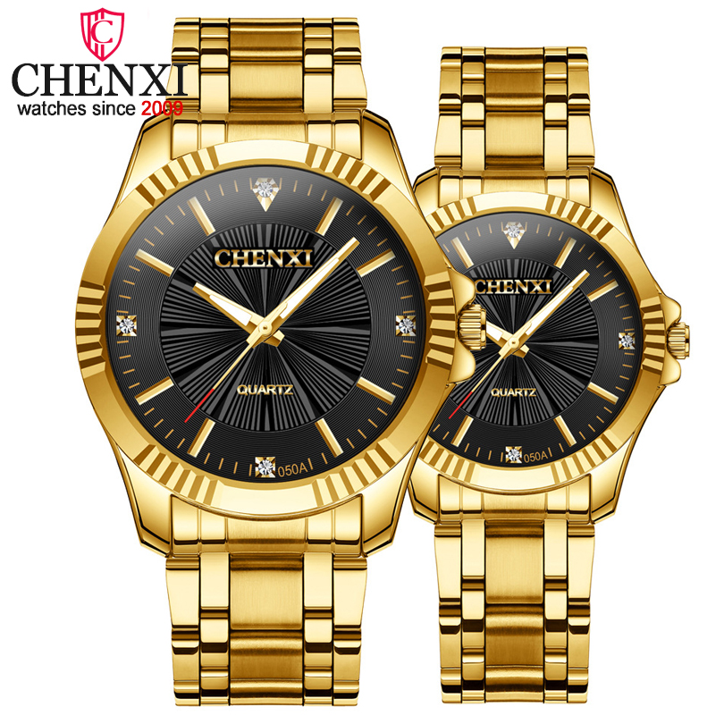 CHENXI 2019 Top New Brand Fashion Cusual Men&Women Set Boble Quartz Wristwatches Watch For Couples Gifts Relojes Hombre
