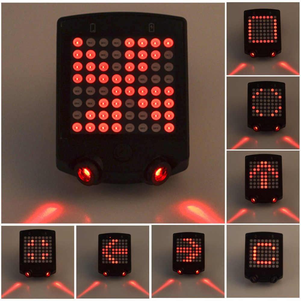 Беспроводной велосипедный лазерный задний светильник, велосипедный сигнал поворота, пульт дистанционного управления, светодиодный Предупреждение ющий задний светильник, USB Перезаряжаемый задний светильник