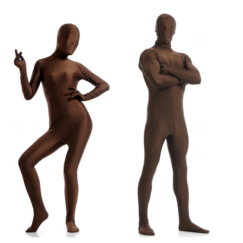 NEW Face Open Lycra Spandex Zentai Party Costume Bodysuit Catsuit Unitard