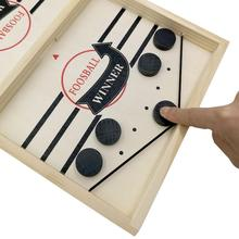 Toys Puck Game-Time Winner Fast-Hockey Party Board-Game Kids Family Paced-Sling Child
