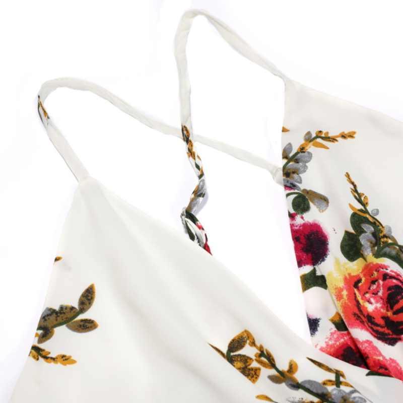 Глубокий v-образный вырез слинг сексуальный Boho пляжный боди летняя с цветочным принтом женский купальный костюм с шортами комбинезон