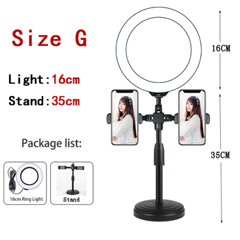 10 Inch Led Ring Light with Tripod Rim Ringlight Selfie Photo Round Ring Lamp Right Light for Smartphone Photography Shooting 11