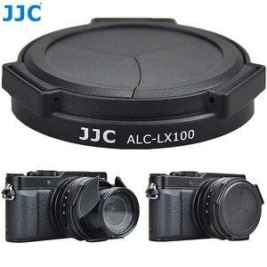 Image 1 - JJC Noir Argent Auto Lens Cap pour Panasonic LUMIX DMC LX100 et LEICA D LUX (Typ 109) Caméra