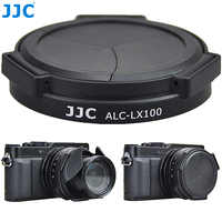 JJC osłona na kamerę automatyczna osłona obiektywu do Panasonic LUMIX DMC-LX100 DMC-LX100II LEICA D-LUX (Typ 109) D-LUX7 zastępuje DMW-LFAC1