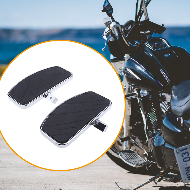 Motorcycle Wide Foot Peg Foot Rest Front Pedal For Yamaha XVS400/650/600 XV125/250/400/535 Honda VF250/750 Etc Moto Accessories