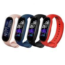 M5 relógio inteligente esporte rastreador de fitness pedômetro freqüência cardíaca monitor de pressão arterial bluetooth m5 banda inteligente pulseira das mulheres dos homens 2021