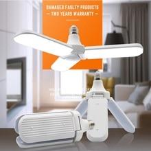 LED Bulb E27 Modern Foldable Fan Blade Super Bright  Angle Adjustable Ceiling Lamp Home Energy Saving Lights