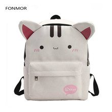 цены на Canvas Printing Backpack Women School Bag for Teenage Girls Cute Cat Bookbag Vintage Laptop Backpacks Female Bag  в интернет-магазинах