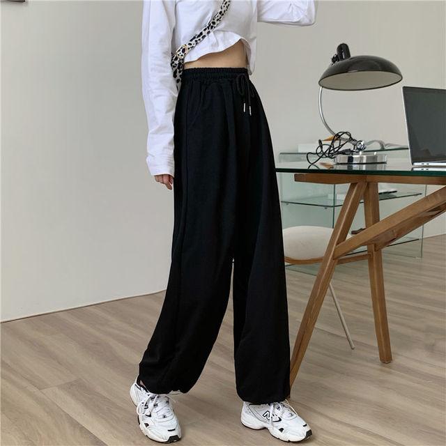 Gray Sweatpants for Women 2021 Autumn New Baggy Fashion Oversize Women Sports Pants Balck Trousers Joggers Streetwear 3