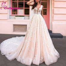 Vestido De Noiva Wedding Dresses 2019 Tulle Lace Appliques Long Train Luxury Robe Mariee Bridal Gown