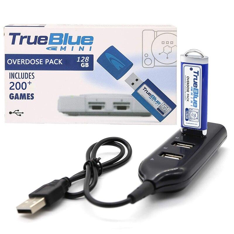 V5 offre spéciale 2 joueurs 203 jeux True Blue Mini-surdose Pack pour PlayStation Classic (128 GB) accessoires