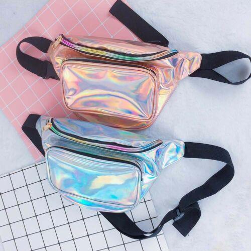 Reversible Mermaid Sequins Glitter Waist Bag Fanny Pack Hip Purse Travel Satchel Outdoor Sport Bum Bag