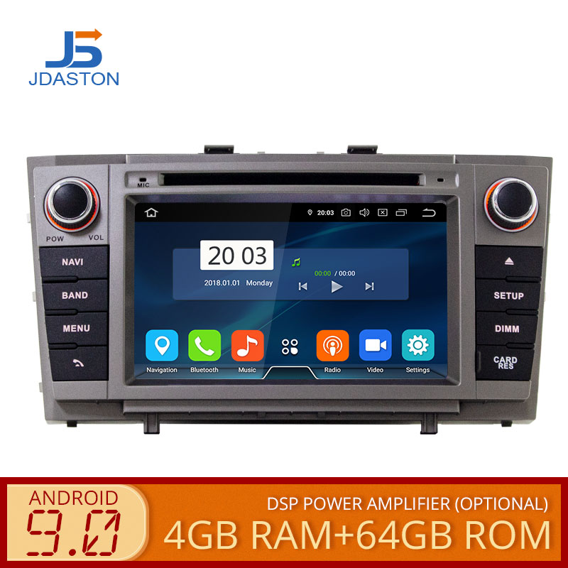 JDASTON Android 9.0 Car DVD Player For <font><b>Toyota</b></font> <font><b>T27</b></font> Avensis 2009-2014 Octa Cores 4G+64G 2 Din Car Radio Multimedia GPS Navi Audio image