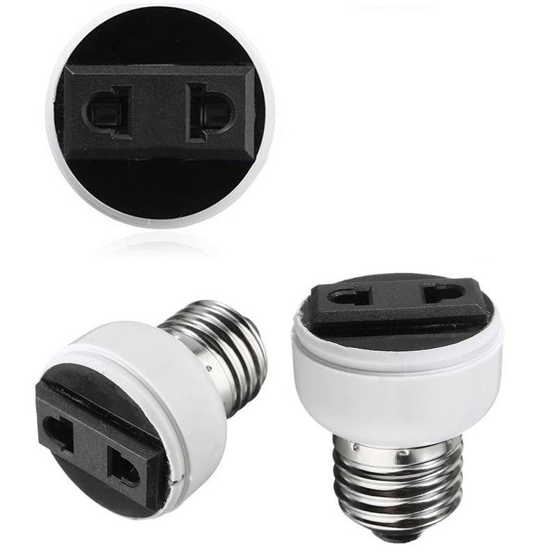 1Pc E27 Lamp Light Socket Holder Screw Bulb Convert To Us Female To Eu Power Outlet Hot Sale