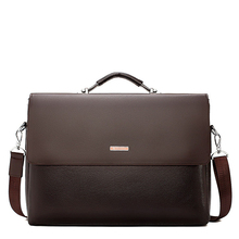 Maletín de negocios a la moda para hombre, bolso para portátil de piel, bolsa de mano informal para bolso de hombro masculino, bandolera de oficina, 2020