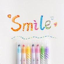Andstal – surligneur magique Fluorescent à couleurs changeantes, ensemble de stylos marqueurs pour aquarelle, Scrapbooking, 12 couleurs