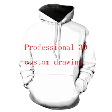 Bzpovb long sleeve pullovers for men and women customized fashionable personality 3D digital printed couple