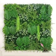 60X40CM 21 Style Artificial Green Wall Landscape Home Garden Jungle Decoration Super Plants Hanging Grass Greenery Wall Panels