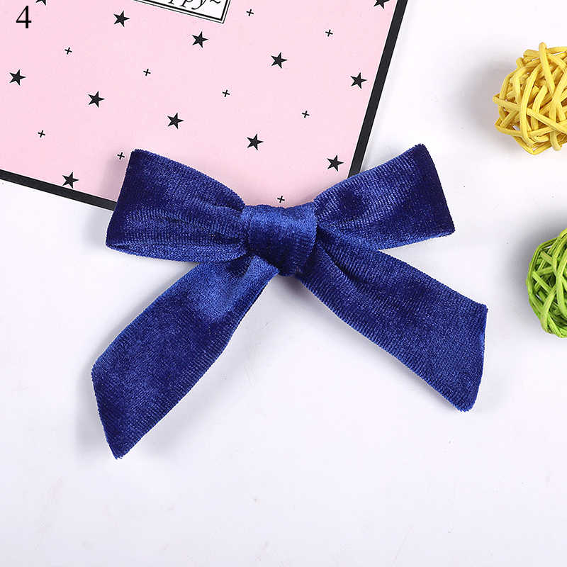 Accessoires de cheveux enfants velours cheveux nœuds fille solide noeud pinces à cheveux bébé Mini épingles à cheveux à la main Barrettes chapeaux bandeau pince à cheveux