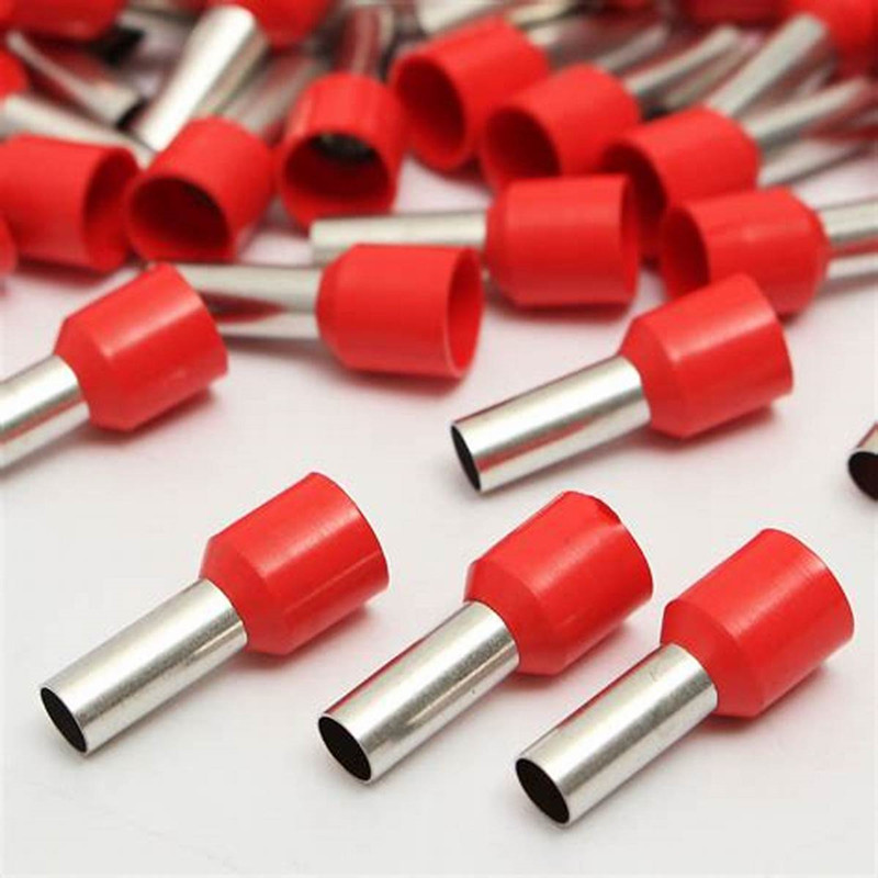 Free shipping 200pcs E0508 E7508 Tubular Wire Cold Pressure Terminal Connector Electrical Terminals <font><b>E1008</b></font> E1508 terminator image