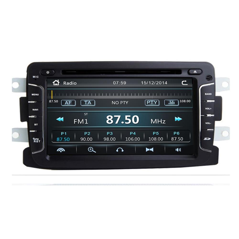 New Coming! Car Multimedia Player Automotivo GPS Navigator Radio For Dacia Duster Logan Sandero Car DVD Central Cassette Player