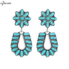 Bohemian Earrings For Women Statement Ethnic Earrings Vintage Stone Earrings Studs Western Jewelry 2020