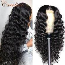 Синтетические волосы на кружеве парики из натуральных волос для Для женщин свободные глубокая волна парик 180 плотность 13x4 Синтетические во...
