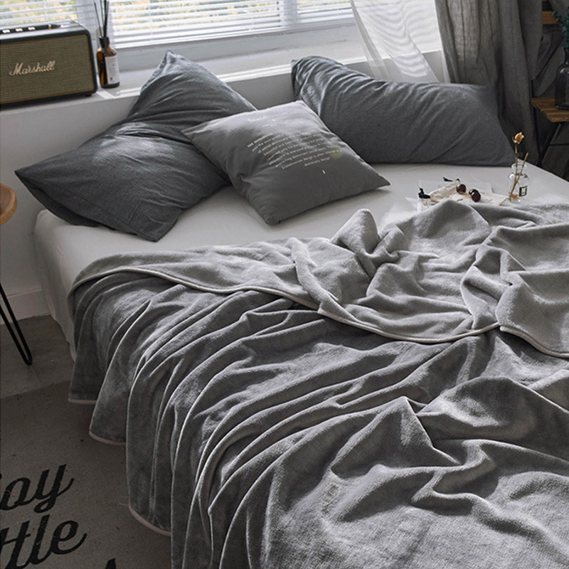 Best Promo #0e099 - Solid Throw Blanket Coral Fleece Bed ...