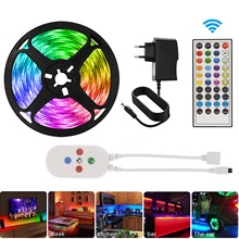 7.5m Led Strip Light Decoration for Wall Bedroom Smart Bluetooth App Control 5050 RGB Tape Music Sync Color Changing Ribbon Neon
