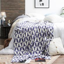 Geometric Modern Series Blanket Pure Cotton Knitting Soft Comfort Siesta Sofa Blanket Bed Cover Home Textile Throw Blanket 1pcs wostar modern fashion hand chunky knitted blanket modern art winter soft warm bed sofa cover blanket